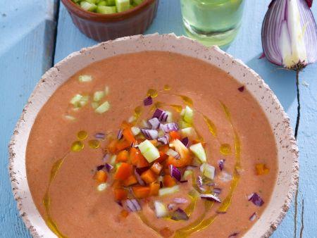 Kalte Gemüsesuppe aus Spanien (Gazpacho)