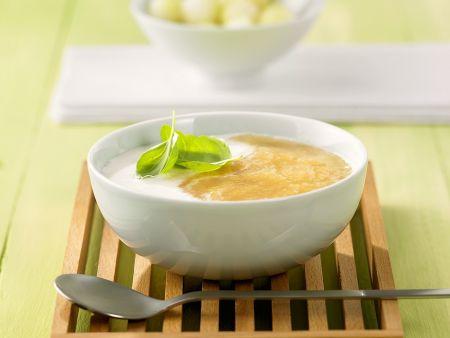 Kalte Kokos-Melonensuppe