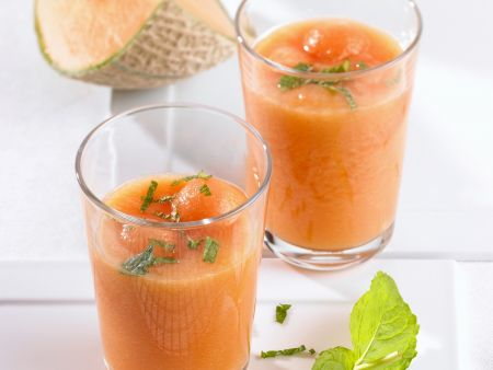 Kalte Melonensuppe mit Minze