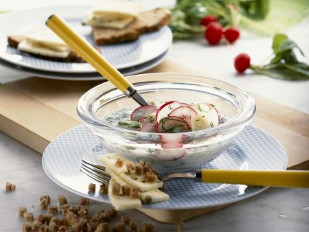 Kalte Radieschen-Buttermilch-Suppe