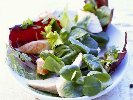 Kaninchenfilet mit Salat