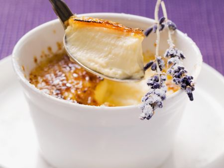 Karamellisierte Creme mit Fenchel und Lavendel