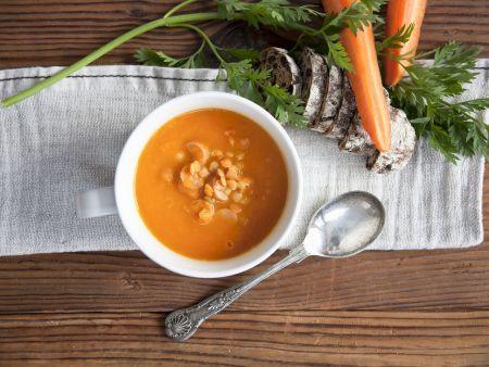 Karotten-Linsen-Suppe