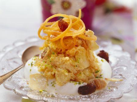 Karotten-Mandel-Dessert nach indischer Art (Halva)