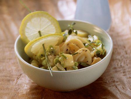 Rezept: Kartoffel-Bohnen-Salat mit Calamari