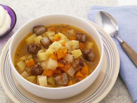 Rezept: Kartoffel-Bratwurst-Eintopf