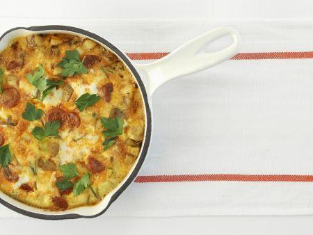 Kartoffel-Frittata mit Chorizo