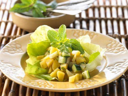 Rezept: Kartoffel-Gurken-Salat nach indischer Art