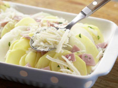Kartoffel-Kohlrabi-Auflauf: Zubereitungsschritt 5