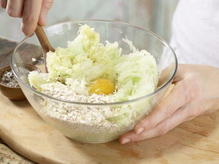 Kartoffel-Kohlrabi-Puffer: Zubereitungsschritt 6