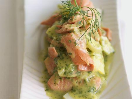 Kartoffel-Lachs-Salat in Kräutermarinade