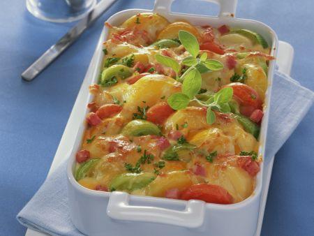 Rezept: Kartoffel-Lauch-Gratin