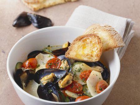 Kartoffel-Miesmuschel-Suppe