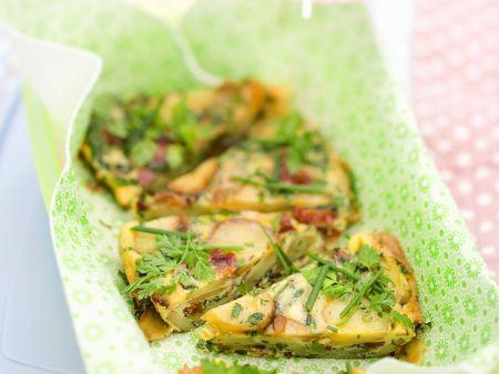 Kartoffel-Omelett auf italienische Art