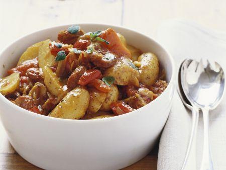Kartoffel-Paprika-Pfanne mit Chorizo