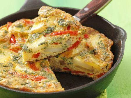 Kartoffel-Paprika-Tortilla