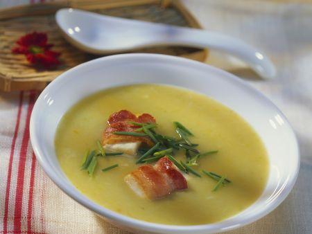 kartoffel porree suppe mit speck rezept eat smarter. Black Bedroom Furniture Sets. Home Design Ideas