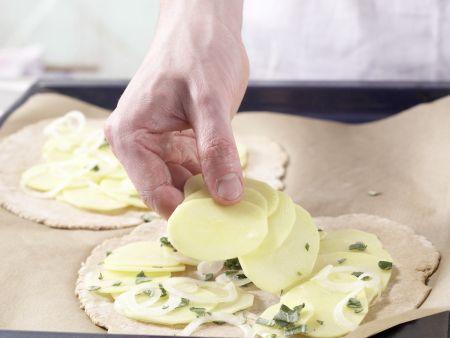 Kartoffel-Quark-Pizza: Zubereitungsschritt 8
