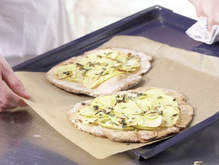 Kartoffel-Quark-Pizza: Zubereitungsschritt 9