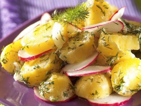 Rezept: Kartoffel-Radieschen-Salat mit Dill