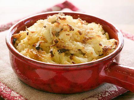 Rezept: Kartoffel-Sardellen-Gratin