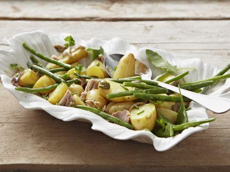 Kartoffel-Thunfisch-Salat mit grünen Bohnen
