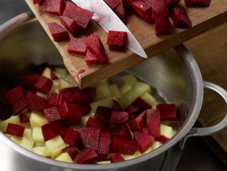 Kartoffelbrei mit Roter Bete: Zubereitungsschritt 3
