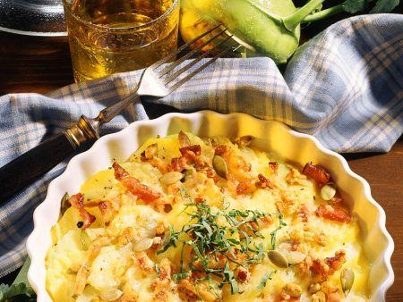 Kartoffelgratin mit Kohlrabi