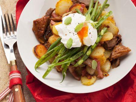 Kartoffelgröstl mit Schweinefleisch