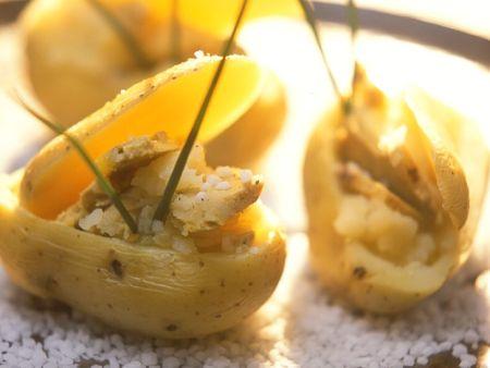 Kartoffeln mit Gänseleber
