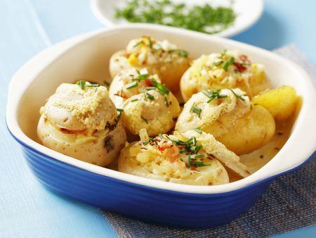 Kartoffeln mit Sauerkraut-Füllung