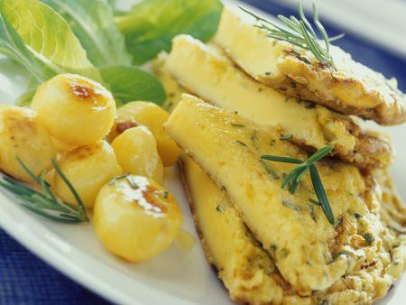 Kartoffelomelett mit Rosmarin