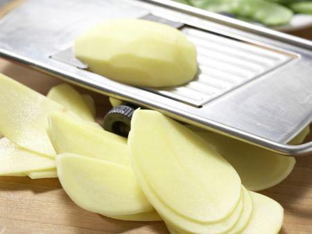 Kartoffelpfanne mit Schinken: Zubereitungsschritt 1