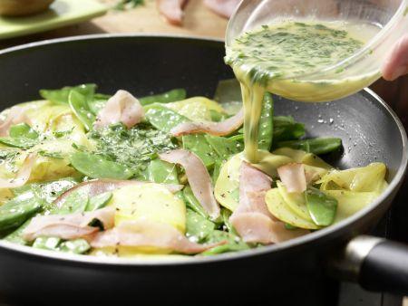 Kartoffelpfanne mit Schinken: Zubereitungsschritt 7
