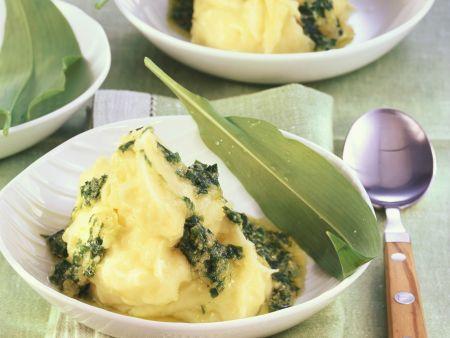 Kartoffelpüree mit Bärlauchpesto