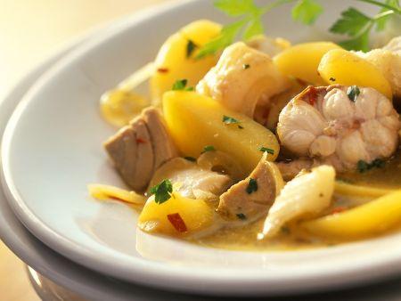 Kartoffelragout mit Fisch