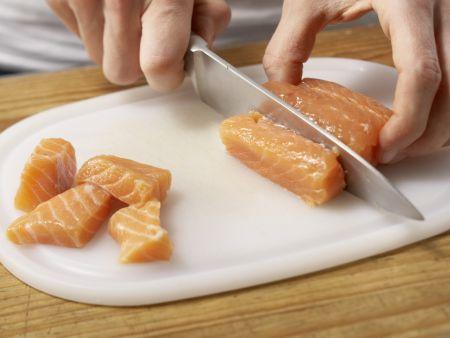 Kartoffelsuppe mit Lachs: Zubereitungsschritt 5