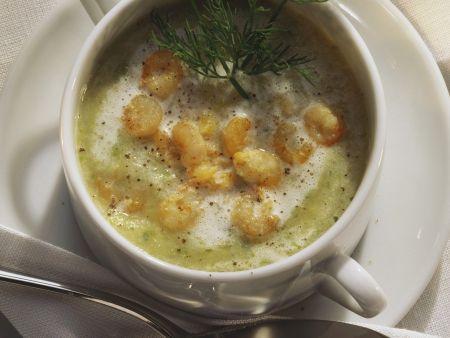 Kartoffelsuppe mit Nordseegarnelen