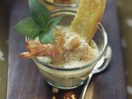 Rezept: Kartoffelsuppe mit Scampi