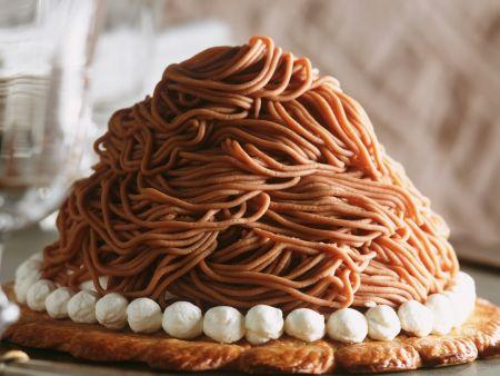 Kastanienmus-Torte
