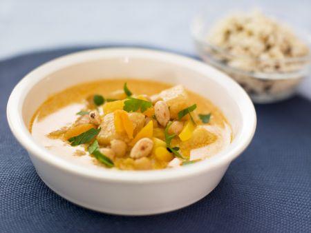 Kichererbsen-Aprikosen-Curry mit Mandeln