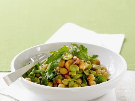 Kichererbsen-Bohnen-Salat