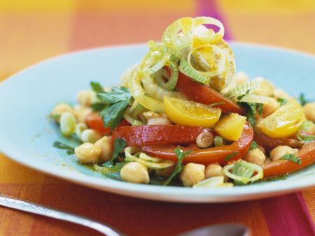 Kichererbsen-Erdnuss-Salat