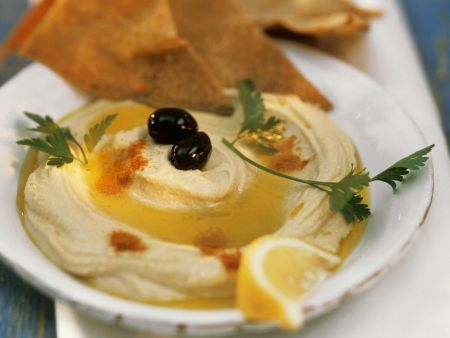 Rezept: Kichererbsenaufstrich (Hummus)