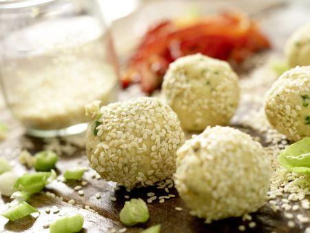 Kichererbsenbällchen im Pita-Brot: Zubereitungsschritt 10
