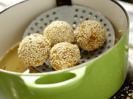 Kichererbsenbällchen im Pita-Brot: Zubereitungsschritt 11