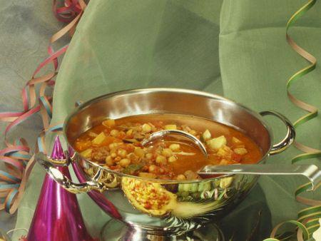 Kichererbsensuppe mit Gemüse