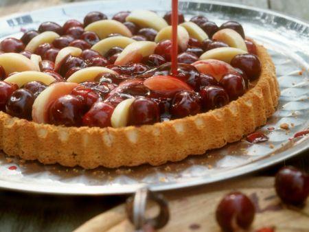 Kirsch-Pfirsich-Kuchen