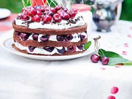 Mohn kirsch sahne torte
