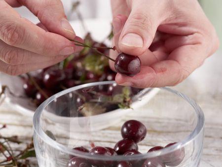 Kirschkompott: Zubereitungsschritt 1